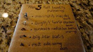 "Top 5 ""Fall Baetis Patterns"""