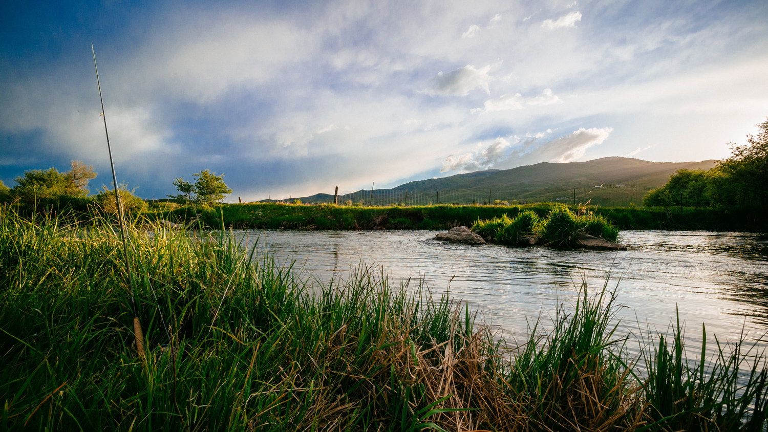 Fly fishing on the Weber River in Park City, Utah