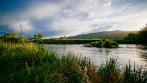Fly fishing on the Weber River in Park City, Utah
